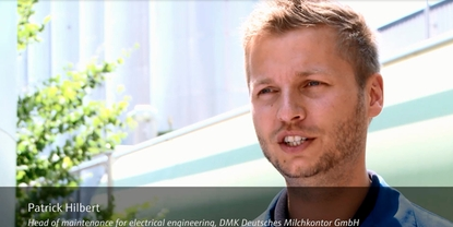 DMK Deutsches Milchkontor in Hohenwestedt reduces its cost by standardizing temperature measurement.