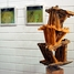 Wooden sculpture by Oliver Köhl on the gallery in the foyer