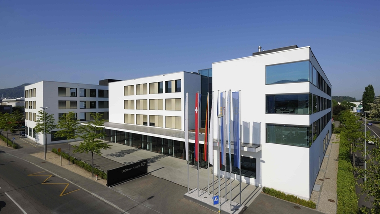 Headquarters of the Endress+Hauser Group in Reinach, Switzerland.