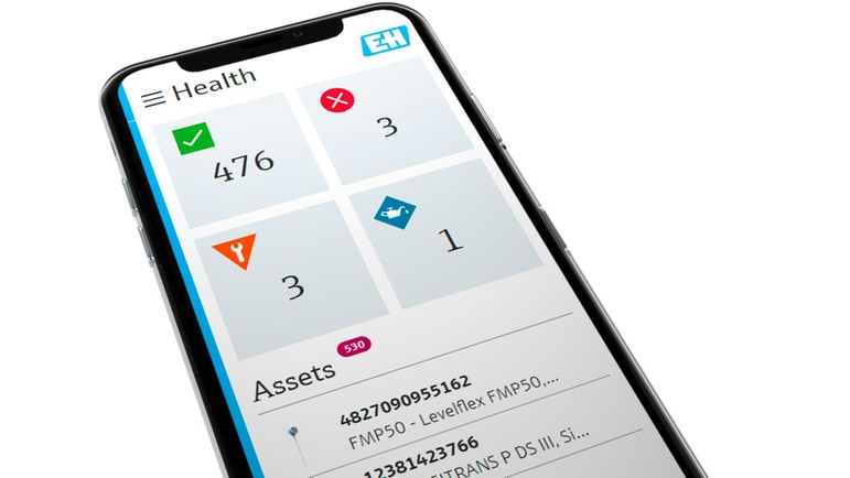 Netilion Health screen on smartphone eases asset maintenance