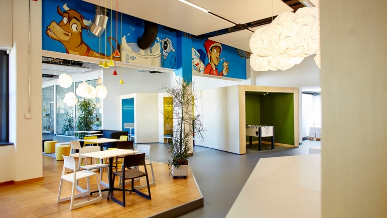 The education facilities at Endress+Hauser Maulburg stimulate learning and interaction.