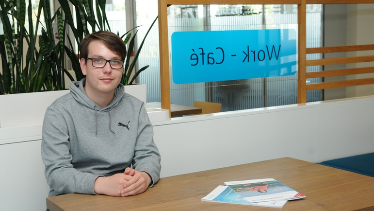 Thorben Pfändler, the new apprentice in the area of  IT – System Integration.